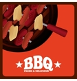 bbq fresh and delicious design vector image vector image