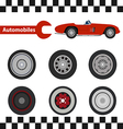 car wheel 02 01 vector image vector image
