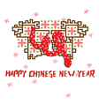 Chinese Snake Card 3 vector image vector image