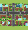 city block top view town street panorama with vector image vector image