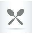 crossed spoons icon vector image vector image