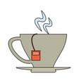 delicious tea cup vector image vector image