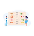 dietology concept doctor and overweight patient vector image vector image