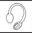 doodle single sketch headphones vector image