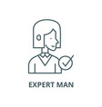 expert man line icon linear concept vector image vector image