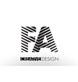 Fa f a lines letter design with creative elegant vector image