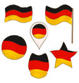 flag of germany performed in defferent shapes vector image vector image