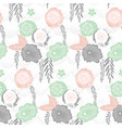 floral japan style pattern vector image