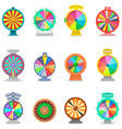 fortune wheel spin game icons casino vector image vector image