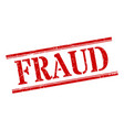 fraud stamp fraud square grunge sign fraud vector image vector image