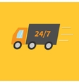 Free delivery car service Truck with speed line vector image