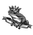 frog prince fairy tale vector image
