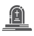 game over glyph icon game and play grave sign vector image