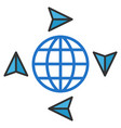 global freelance flat icon vector image