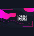 gradient dynamic concept design fluid shapes vector image vector image