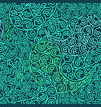green seamless pattern eco design vector image vector image