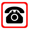 icon telephone on a white background vector image vector image