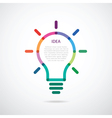 included bulb with color beams vector image vector image