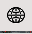 Internet Web Icon vector image vector image