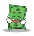 laughing face dollar character cartoon style vector image vector image