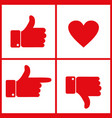 like dislike and heart icon vector image