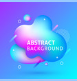 liquid abstract background banner vector image vector image