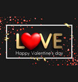 love card with red hearts and serpentine vector image vector image