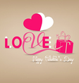 love typography paper concept vector image