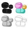 medicinal tabletsmedicine single icon in cartoon vector image vector image