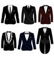 men s jacket collection wedding men s suit vector image