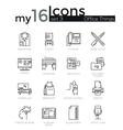 modern thin line icons set basic business vector image