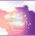 muslim feast holy month ramadan kareem vector image vector image