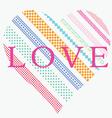 ornamental heart post card vector image vector image