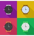outline icons of watches vector image vector image
