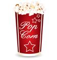 Popcorn cup vector image vector image