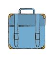portfolio suitcase travel business color sketch vector image