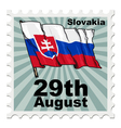 post stamp of national day of Slovakia vector image vector image