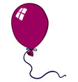 purple balloon on white background vector image vector image