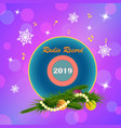 radio in the new year vector image