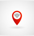 red location icon for wifi eps file vector image