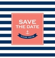 save date sailor theme vector image vector image