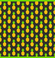 seamless pattern with pineapples for textile vector image