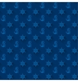Seamless patterns blue anchors with shadow vector image