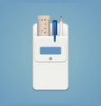 set of school stationery in a white school pocket vector image vector image