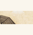 shadow from wooden sun umbrella on sand long vector image