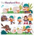 shepherd boy vector image vector image