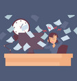 stress at work woman headache in office vector image