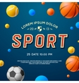 Team Sport concept background soccer basketball vector image vector image