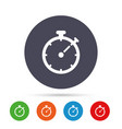 timer sign icon stopwatch symbol vector image