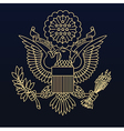 US passport seal gold on blue vector image vector image